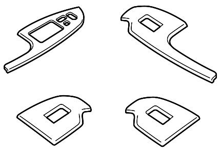 Комплект облицовок переключателей (под алюм.)