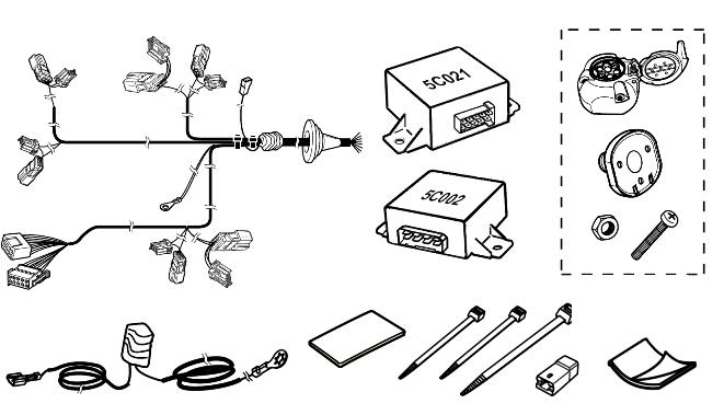 Проводка фаркопа (компл.) 7pin