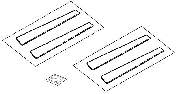 Накладки на стойки дверей серебристые (компл.)